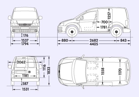 Caddy Van Dimensions